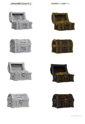 D&D - Unpainted Miniatures Chests