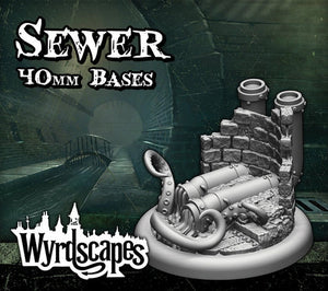 Malifaux -Sewer Bases 40mm