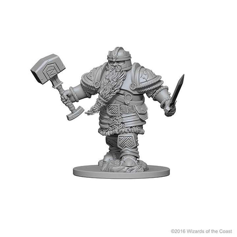 D&D - Unpainted Miniatures Dwarf Fighter Male