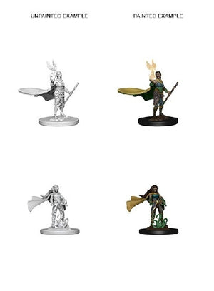 D&D - Unpainted Miniatures Elf Druid Female