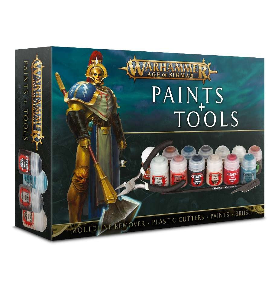 Warhammer Age Of Sigmar Paint Plus Tools Set