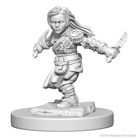D&D Miniatures Halfling Rogue Female