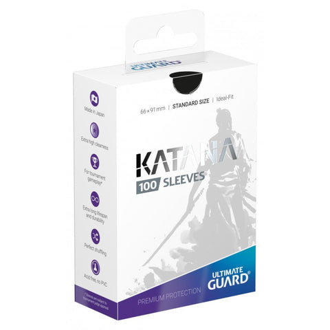 Ultimate Guard Katana Standard Sleeves 100 Black