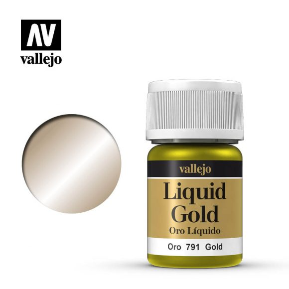 Vallejo Liquid Metallic - 791 Gold 35ml