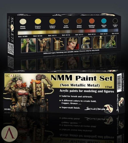 Scale 75 Scalecolor NMM Gold and Copper Paint Set