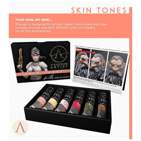 Scale 75 Scalecolor Artist Skin Tones Paint Set