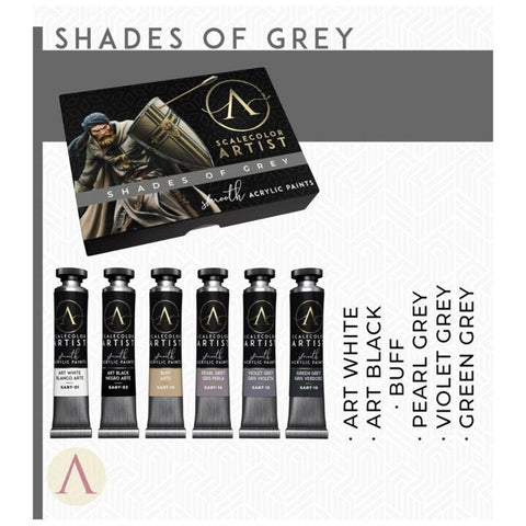 Scale 75 Scalecolor Artist Shades of Grey Paint Set