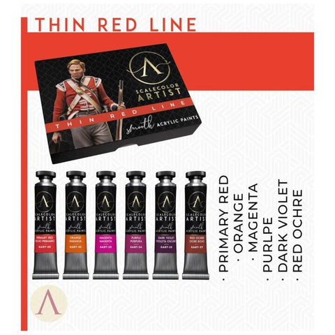 Scale 75 Scalecolor Artist Thin Red Line Paint Set