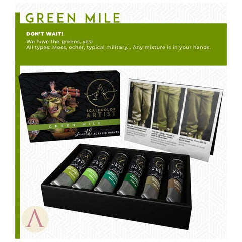 Scale 75 Scalecolor Artist Green Mile Paint Set
