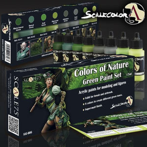 Scale 75 Scalecolor Colors Of Nature Green Paint Set