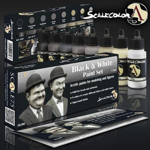 Scale 75 Scalecolor Black and White Paint Set