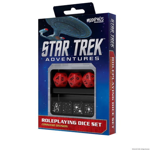 Star Trek Adventures Dice Command Red