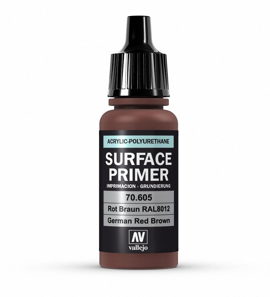 Vallejo Surface Primer - 605 German Red Brown 17ml