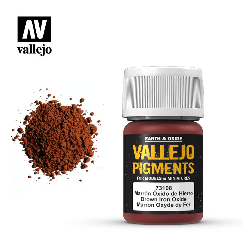 Vallejo Pigments - 108 Brown Iron Oxide 30ml