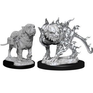 D&D Miniatures Mastiff and Shadow Mastiff
