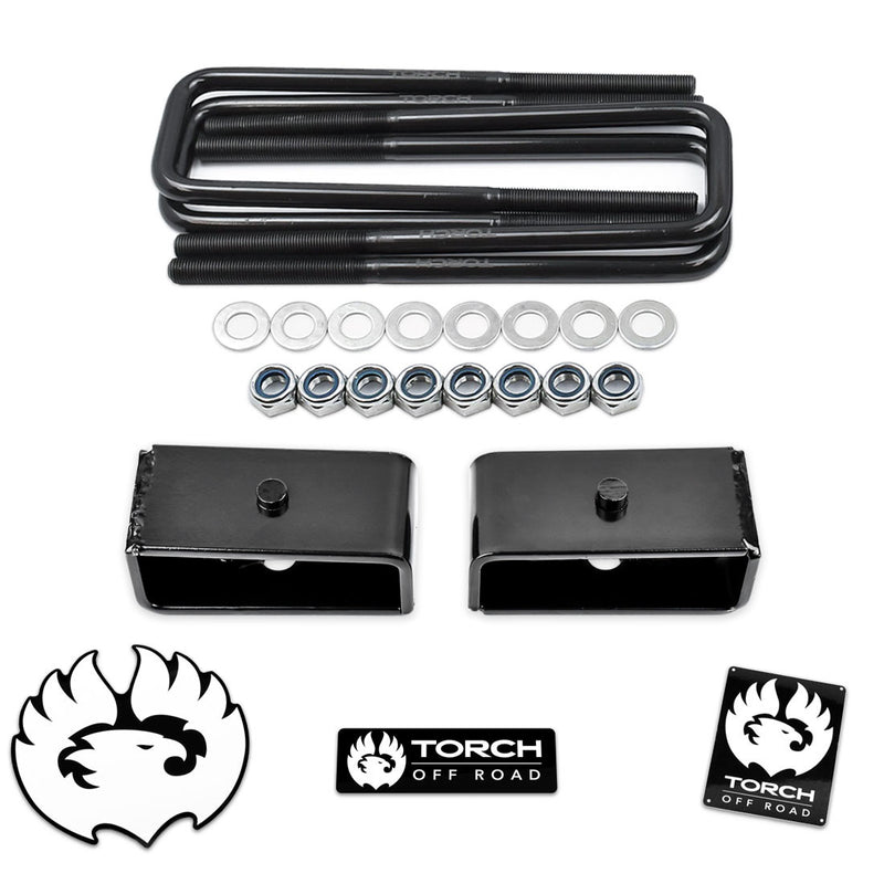 "TORCH 2"" Rear Lift Kit for 1995-2021 Toyota Tacoma 2WD 4WD TRD SR5 Tapered Blocks"
