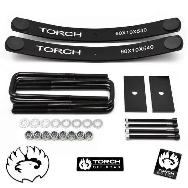 "1.5""-2"" Rear Lift Kit for 1995-2021 Toyota Tacoma w/ Add A Leaf U-Bolts Shim"
