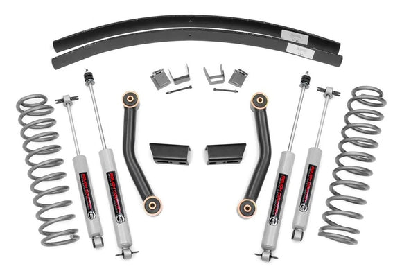 3in Jeep Suspension Lift Kit for 1984-2001 Jeep Cherokee XJ 2WD 4WD
