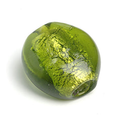 1086 Lime Sølvfolie Perle 30 x 32 mm