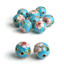 593 Turquise Cloisonneperle 10 mm