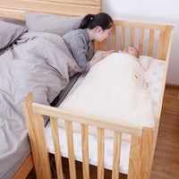 Maple Bedside Sleeper Crib