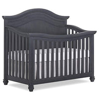 Madison 5, 1 Curved Top Convertible Crib, Weathered Grey