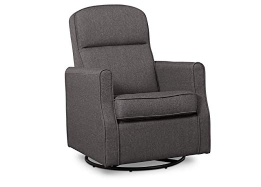 Blair Nursery Glider Swivel Rocker Chair, Charcoal