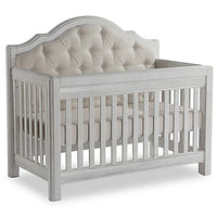 Fancy Padded 4-in-1 Convertible Baby Crib, Grey