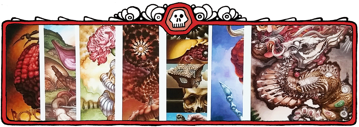 Red Fracture - Prints banner - Pictured, an array of the amazing, artistic prints offered by Sean Chappell.