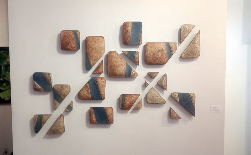 Sean Chappell - Red Fracture - Elaine Fleck Gallery west wall sculpture artwork