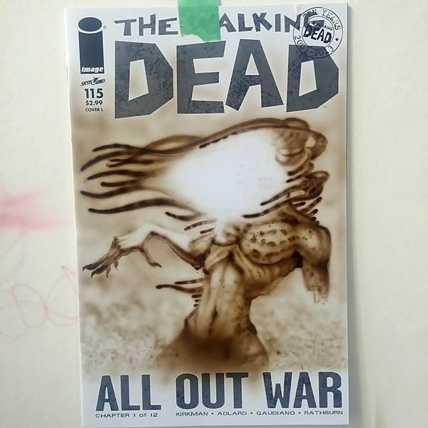 Red Fracture - Walking Dead Sketchcover