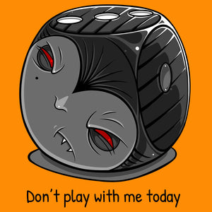 T-shirt, Grumpy Vampire Dice by RAMSTAR Games - Don't play with me today, geek, nerd, board game merchandise