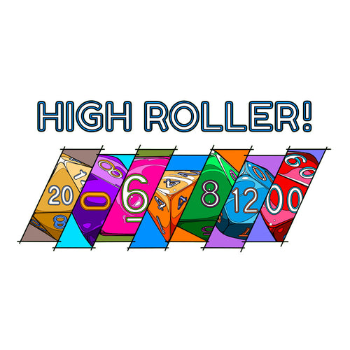 High Roller Mug by Ramstar Games - Dice, nerd, geek, board game, tabletop game merchandise