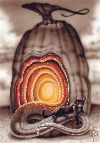 Red Fracture - The Truth About Cats and Pumpkins - Cat on a Hot tin Tongue - Original image