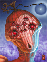 "Load image into Gallery viewer, Red Fracture - Octo Pumpkin Print - 9"" x 12"" - $25"