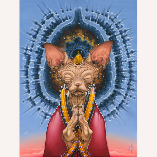 Red Fracture - Sean Chappell - Surreal art, surrealism, Salvador Dali, meditation, cat art, cat painting, consciousness, universe picture