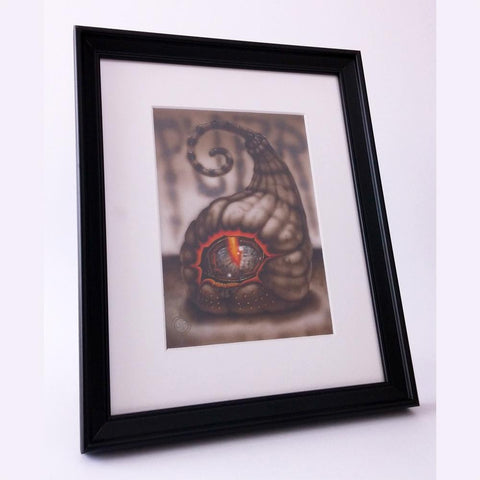 Red Fracture - Originals - Purr - Pictured, Purr photographed in a black frame with a white mat. Beautiful!