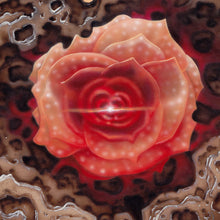 Load image into Gallery viewer, Red Fracture - The Breakthrough - Close up of a flower with a glowing center