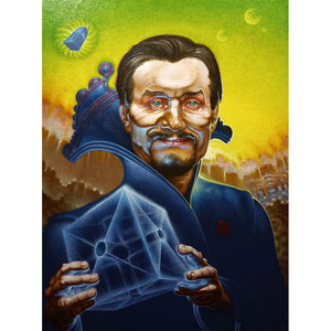 Anthony Ainsley painting, Doctor Who portrait, Tardis, Key to time, fan art