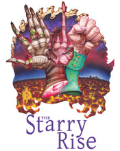 Load image into Gallery viewer, Red Fracture - The Starry Rise, a xiinisi trilogy by Kit Daven - T-shirt, book promo, cover art