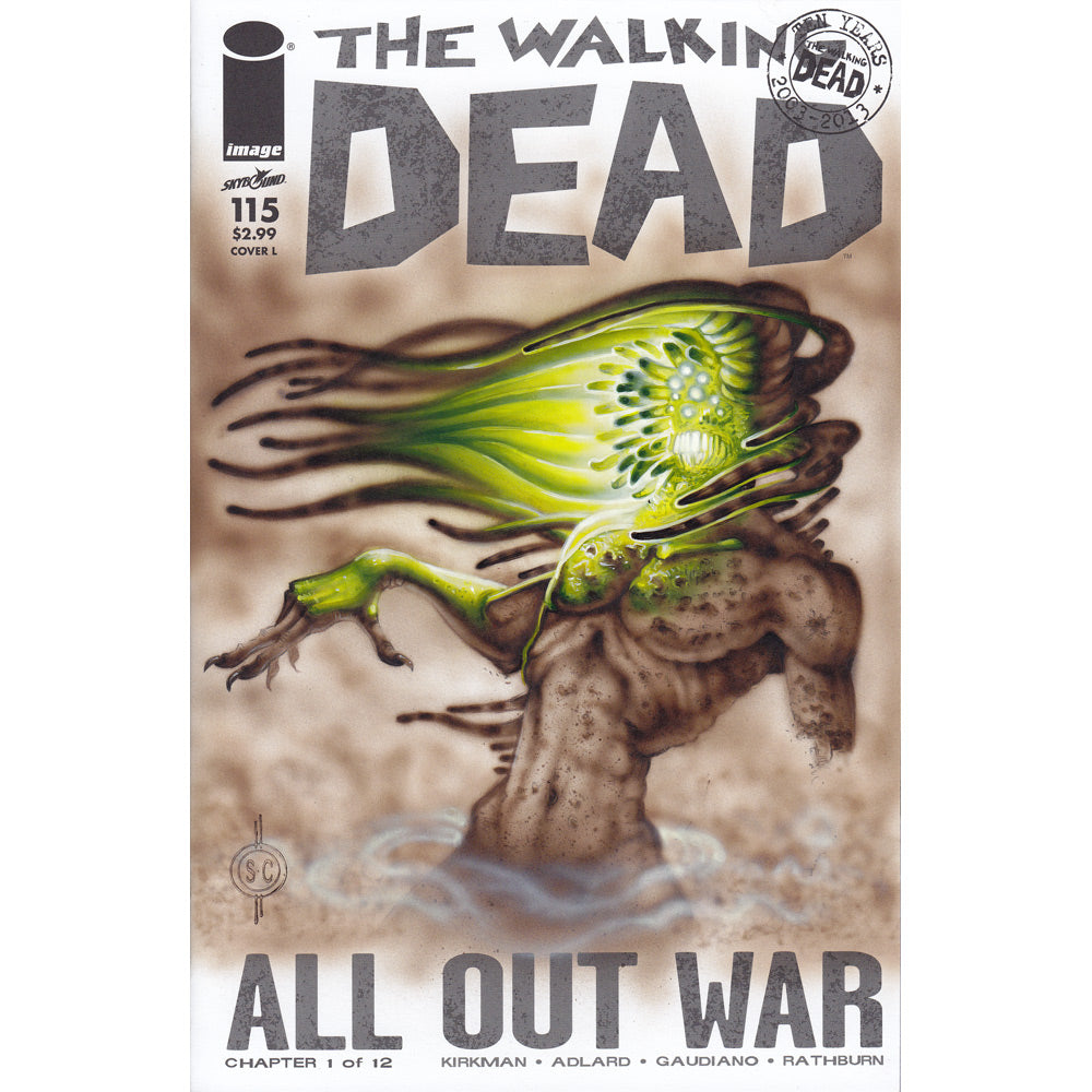 Red Fracture - Sketch cover - The Walking Dead - All out War