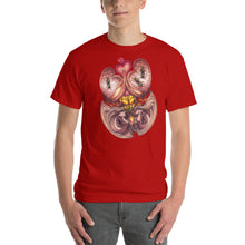 Load image into Gallery viewer, Red Fracture - Wasp of the Flesh T-shirt - Featured, a man wearing a t-shirt with a surreal image on it