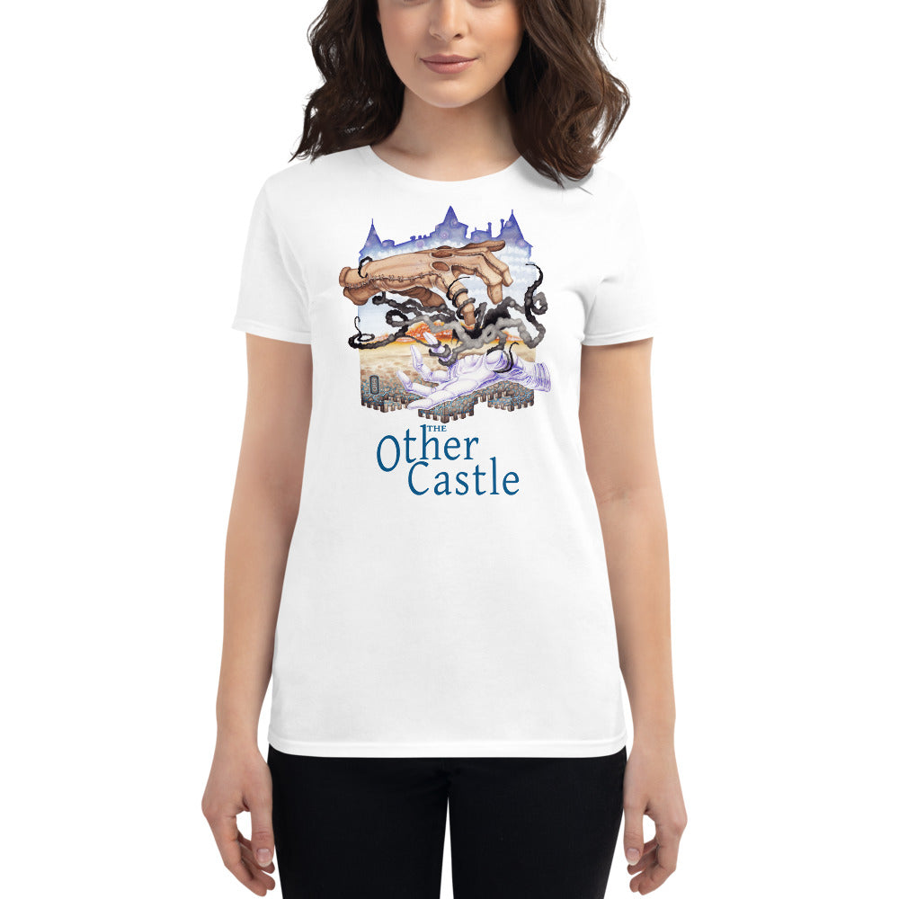 Red Fracture - The other castle, a xiinisi trilogy by Kit Daven - T-shirt, book promo, cover art