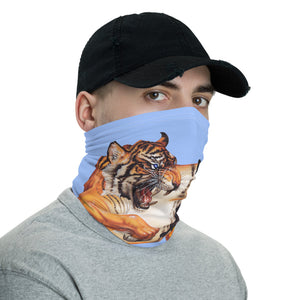 Sean Chappell - Red Fracture - Neck Gaiter - Tiger and Butterfly, marmalade, cat, attack, surreal, covid 19, coronavirus