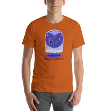 Load image into Gallery viewer, T-shirt, what are you looking at by RAMSTAR Games - Suspicious ghost tee nerd, geek, board game merchandise
