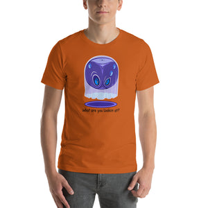 T-shirt, what are you looking at by RAMSTAR Games - Suspicious ghost tee nerd, geek, board game merchandise