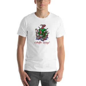 T-shirt, Cthulhu Dicing by RAMSTAR Games - Chthulu, Chthulhu, Cthulu tee nerd, geek, board game merchandise