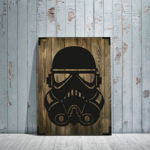 Custom Storm Trooper Wooden Wall Art - All Baby Plush