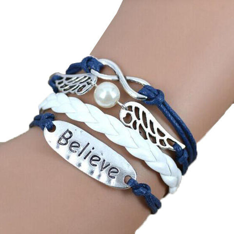 Infinity Angel Believe Bracelet - All Baby Plush