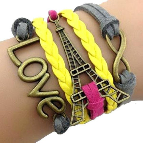Love Paris Infinity Wrap Bracelet - All Baby Plush